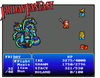 Friday Fantasy Battle Screen